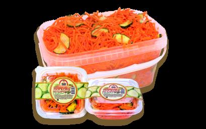 Морковь по-корейски с огурцом
