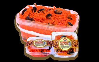 Морковь с грибами по-корейски