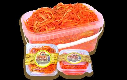 Морковь с оленьими рожками по-корейски