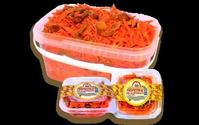 Морковь с опятами по-корейски